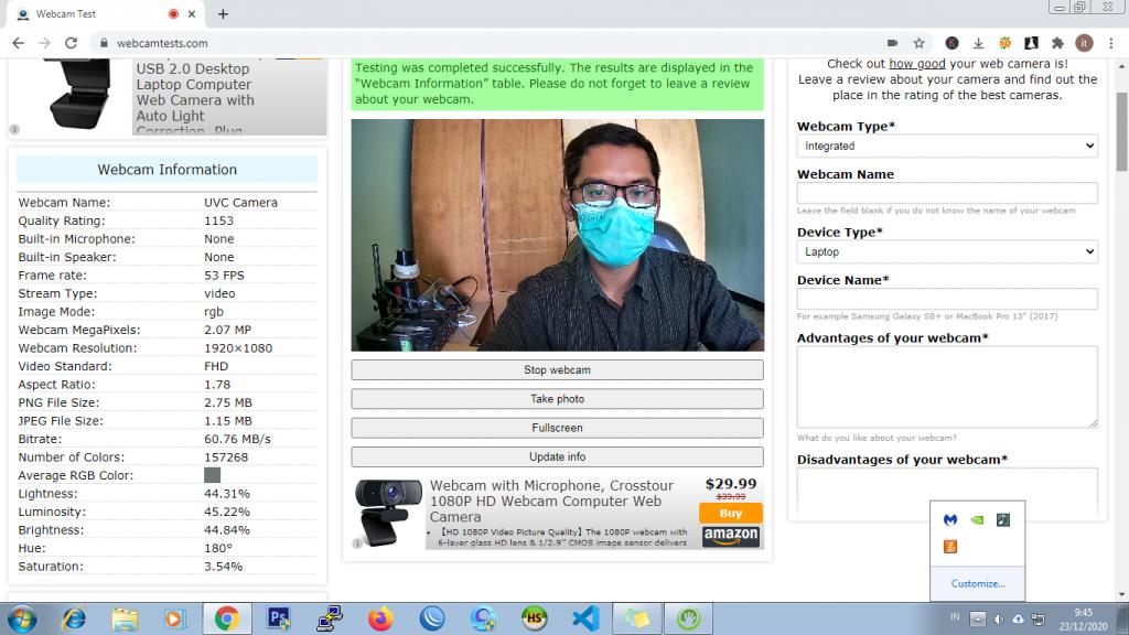 hasil test webcam terbaik murah